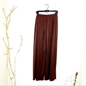 Dialogue Brown Palazzo Extra Wideleg Pants XL NWT